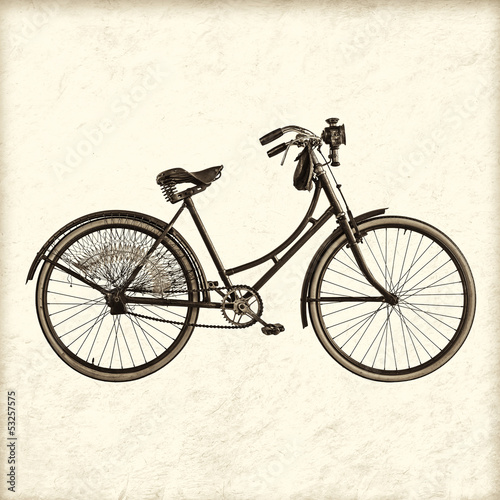 Retro styled image of a vintage lady bicycle