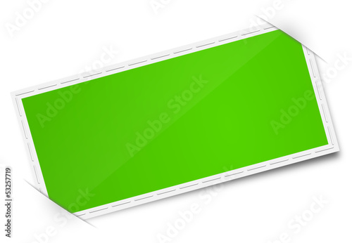 Etikett grün leer