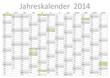 Kalender 2014 Jahresplaner Jahreskalender Gesetzliche Feiertage