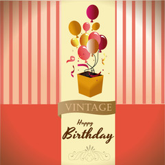 happy birthday vintage