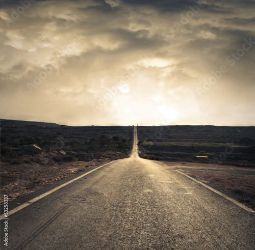 long deserted road