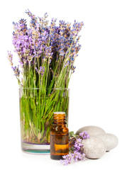 lavender flowers and essential oil