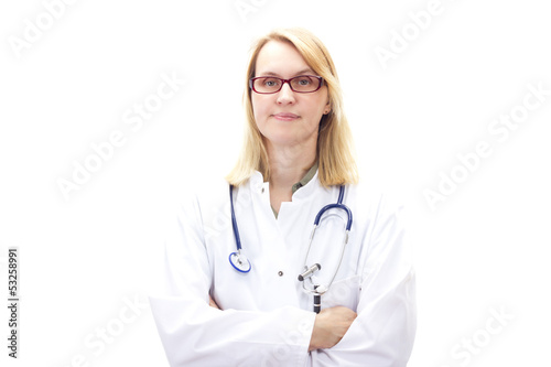Female doctor cross-armed