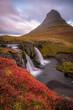 Fototapeten,island,wasserfall,sonnenaufgang,landschaft