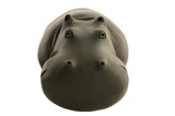 wooden hippo full face