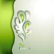 Abstract paper tree with green elements