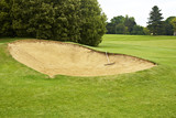 Bunker on golf course