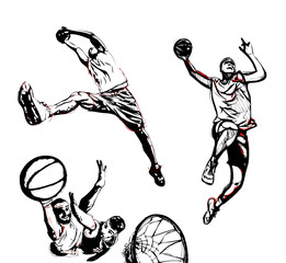 basketball trio
