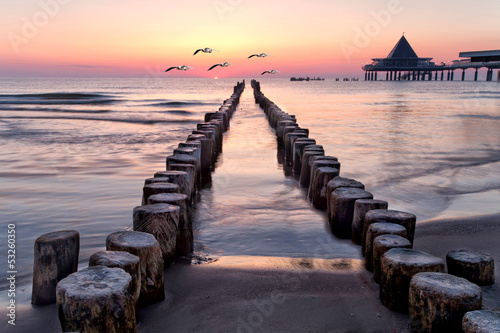 canvas print picture am Strand von Usedom