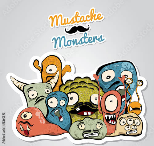 Mustache Monsters