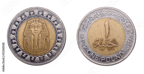 Egyptian coin in one cent