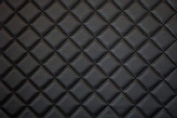 black leather texture of sofa closeup shot