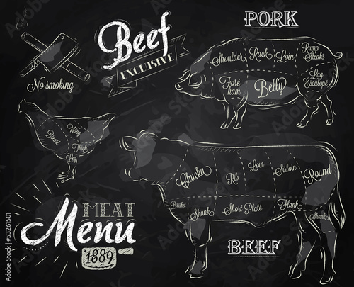 Chalk Illustration of a vintage graphic element - 53261501