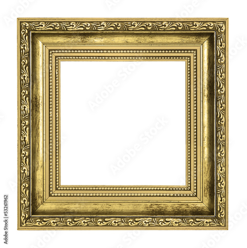 golden frame with thick border