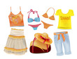 set of summer clothes for girls