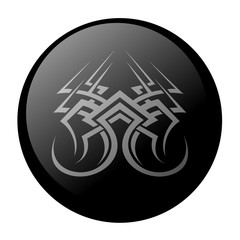 black icon with a pattern on a white background