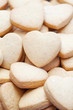 Valentine themed heart shaped shortbread cookies
