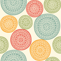 Seamless pattern with ornamental circles