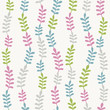 Seamless color leaf pattern