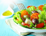Greek feta and olive salad