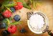 Berries with granulated sugar