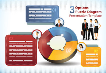 Three sided puzzle presentation template