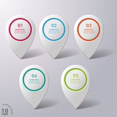 Five Colorful Infographic Markers