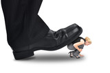 Big Power Boss Stepping on Little Employee