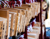 wishing plates at a Japanese shrine