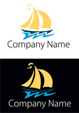 Logo yacht - travel logo. Vector