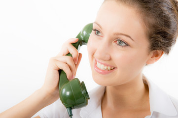 Young Woman On The Telephone