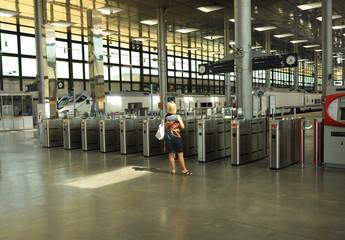 Control de acceso en la estación de tren