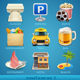 Fototapety Travel icon set-1