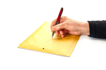 Sending a letter