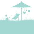 Summer Garden Canvas Chair Turquoise