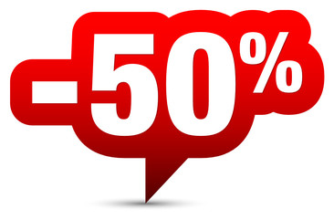 """Icon Sale """"-50%"""" Red"""