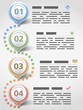 Modern inforgraphics design template with four elements