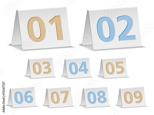 Paper banners with numbers