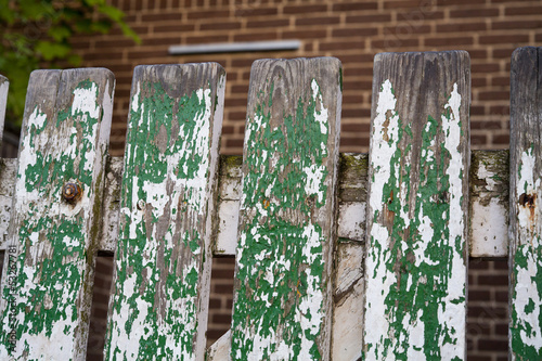 Worn Weathered Picket Fence