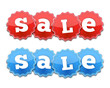 Red and Blue Sale Tags