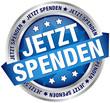"""Button Banner """"Jetzt spenden"""" blau/silber"""