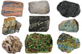 Selection of important metamorphic rocks