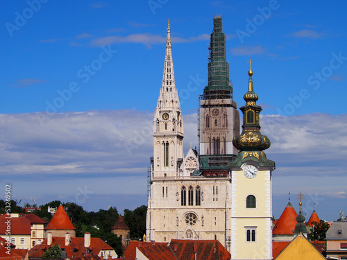 Zagreb cathedral and st. Mary's church