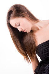 Profile Portrait Of Beautiful Young Woman