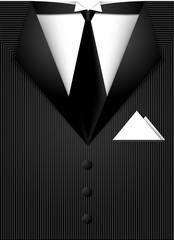 Black vector siut