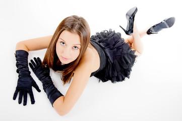 Girl Wearing Prom Dress