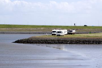 Moibile Homes on the Afsluitdijk
