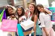 Beautiful shopping women