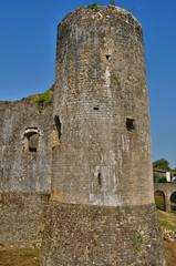 medieval castle of Villandraut in Gironde