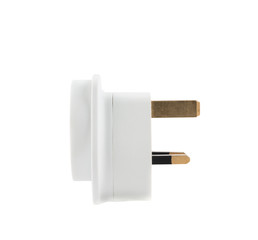 EU to UK converter plug adapter isolated